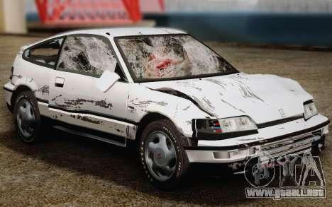 Honda CR-X 1991 para la vista superior GTA San Andreas