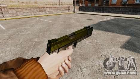 Pistola autocargable USP H & K v5 para GTA 4 segundos de pantalla