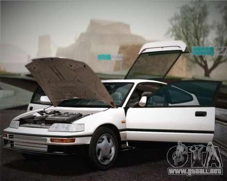 Honda CR-X 1991 para visión interna GTA San Andreas