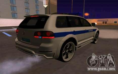 Volkswagen Touareg R50 para GTA San Andreas interior