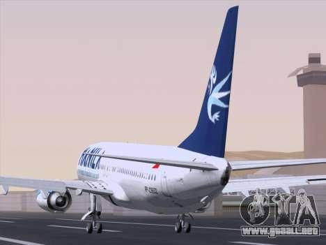 Boeing 737-800 Spirit of Manila Airlines para GTA San Andreas vista posterior izquierda