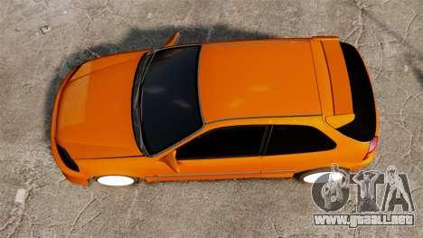 Honda Civic Gtaciyiz 2 para GTA 4 visión correcta