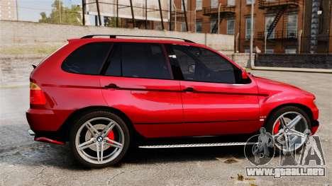BMW X5 4.8iS v3 para GTA 4 left