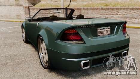 Feltzer modificado para GTA 4 Vista posterior izquierda