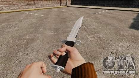 Cuchillo del Alabama Slammer, cromo plateado para GTA 4 segundos de pantalla