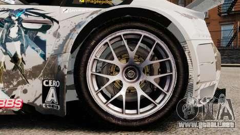 BMW Z4 M Coupe GT Black Rock Shooter para GTA 4 vista interior
