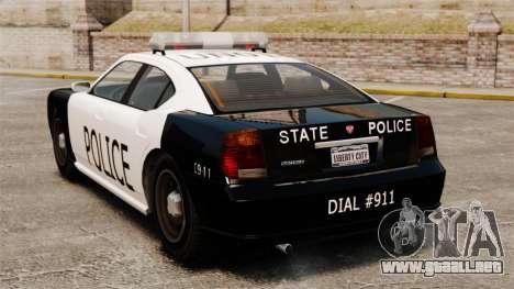 Buffalo policía LAPD v1 para GTA 4 Vista posterior izquierda