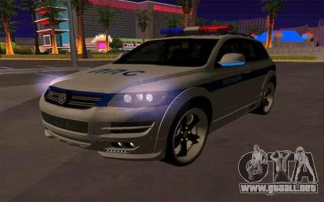 Volkswagen Touareg R50 para vista inferior GTA San Andreas