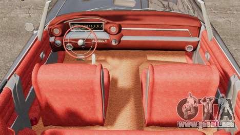 Cadillac Eldorado 1959 v1 para GTA 4 vista hacia atrás