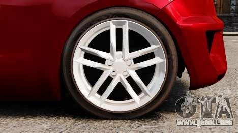 SEAT Ibiza para GTA 4 vista hacia atrás