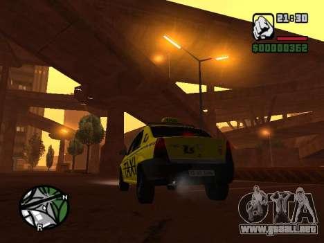Dacia Logan 2008 LS Taxi para GTA San Andreas left