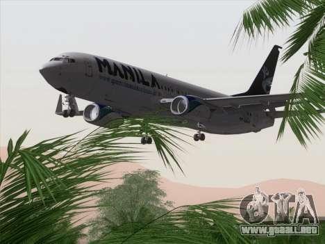 Boeing 737-800 Spirit of Manila Airlines para el motor de GTA San Andreas