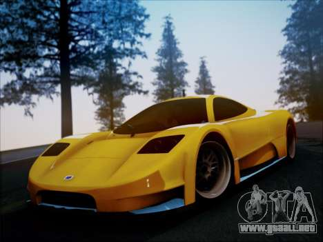 Joss JP1 2010 Supercar V1.0 para la visión correcta GTA San Andreas