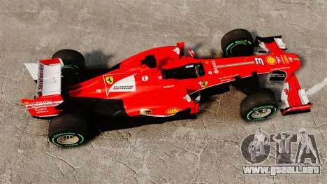 Ferrari F138 2013 v3 para GTA 4 visión correcta