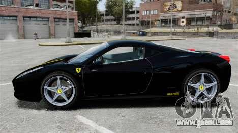 Ferrari 458 Italia 2010 Wheelsandmore 2013 para GTA 4 left