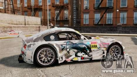 BMW Z4 M Coupe GT Black Rock Shooter para GTA 4 left
