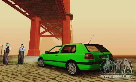 Volkswagen Golf Mk3 GTi 1997 para la visión correcta GTA San Andreas