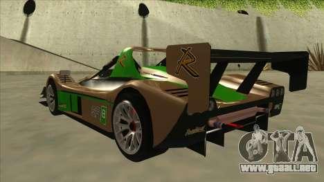 Radical SR8 RX para GTA San Andreas vista hacia atrás