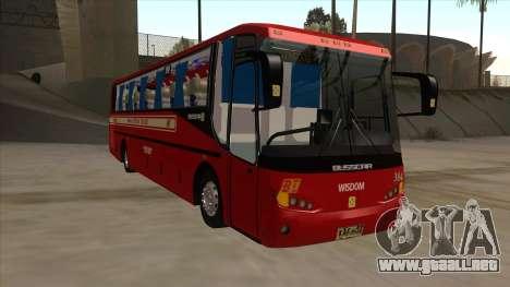 Bagong Lipunan Transit BM 384 para GTA San Andreas left