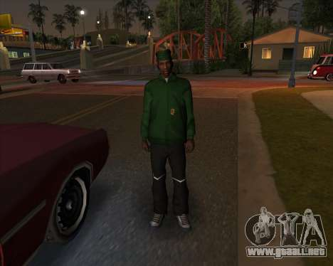 Mercado de ropa de deportes para GTA San Andreas segunda pantalla