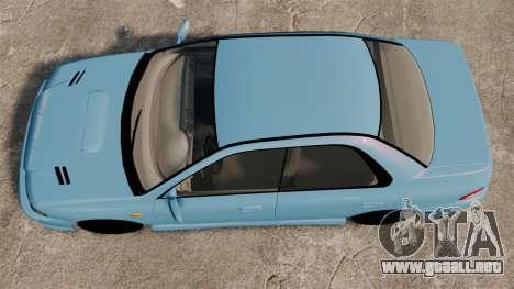 Subaru Impreza WRX STI 5 Domestic Drifter 1999 para GTA 4 visión correcta