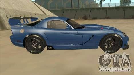 Dodge Viper SRT-10 ACR TT Black Revel para GTA San Andreas vista posterior izquierda