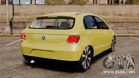 Volkswagen Gol G6 para GTA 4 Vista posterior izquierda