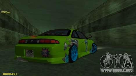 Nissan Silvia S14 CIAY para GTA San Andreas vista hacia atrás