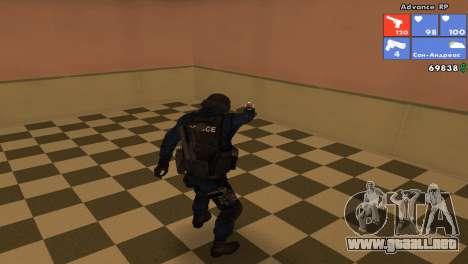 SWAT de piel para GTA San Andreas tercera pantalla