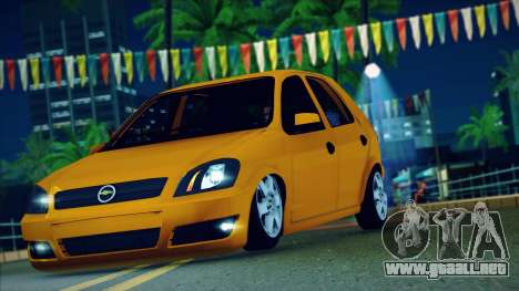 Chevrolet Celta para la visión correcta GTA San Andreas