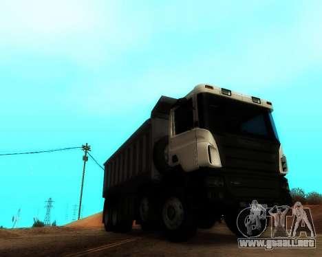Scania P420 8X4 Dump Truck para la visión correcta GTA San Andreas