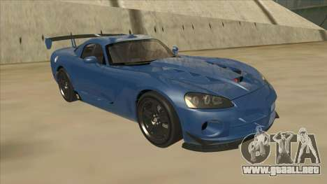 Dodge Viper SRT-10 ACR TT Black Revel para GTA San Andreas left