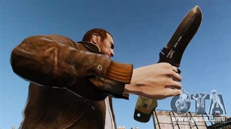 Cuchillo táctico v4 para GTA 4 tercera pantalla