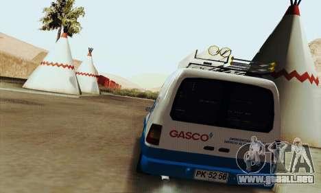 Chevrolet Combo Gasco para la visión correcta GTA San Andreas