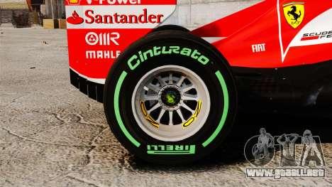 Ferrari F138 2013 v3 para GTA 4 vista hacia atrás
