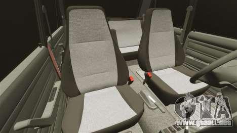 VAZ-2107 para GTA 4 vista desde abajo