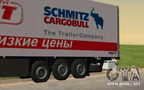 Trailer de MAN TGX para GTA San Andreas left