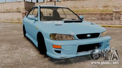 Subaru Impreza WRX STI 5 Domestic Drifter 1999 para GTA 4