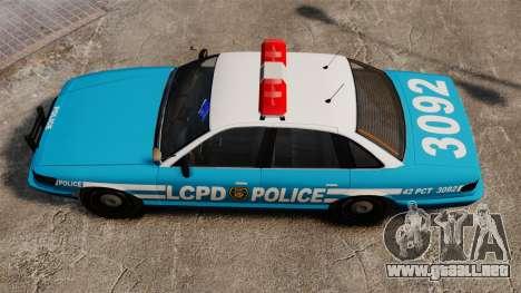 LCPD Police Cruiser para GTA 4 visión correcta