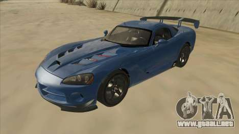 Dodge Viper SRT-10 ACR TT Black Revel para GTA San Andreas