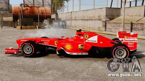 Ferrari F138 2013 v6 para GTA 4 left