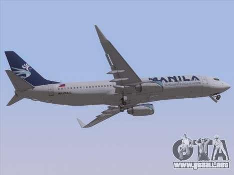 Boeing 737-800 Spirit of Manila Airlines para visión interna GTA San Andreas