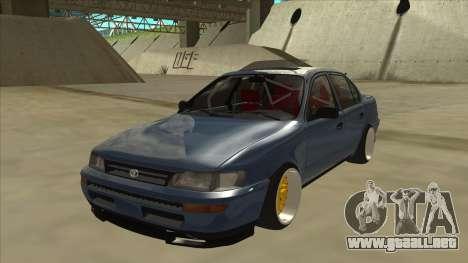 Toyota Corolla 1.6 1997 Hellaflush para GTA San Andreas