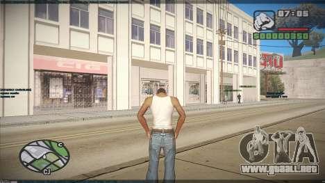 GTA HD Mod para GTA San Andreas quinta pantalla