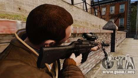 HK G3SG1 sniper rifle v1 para GTA 4 segundos de pantalla
