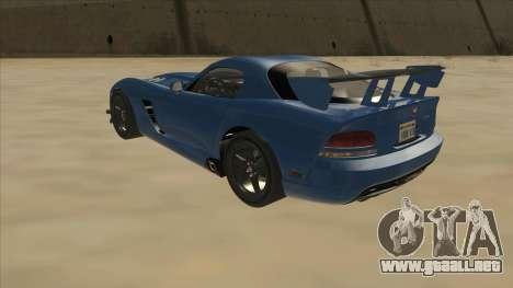 Dodge Viper SRT-10 ACR TT Black Revel para GTA San Andreas vista hacia atrás