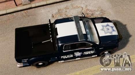 Ford F-150 De La Policia Federal [ELS & EPM] v2 para GTA 4 visión correcta