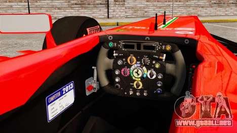 Ferrari F138 2013 v6 para GTA 4 vista interior