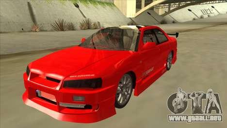 Nissan Skyline ER34 JDMGarage para GTA San Andreas