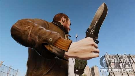 Cuchillo táctico v3 para GTA 4 tercera pantalla